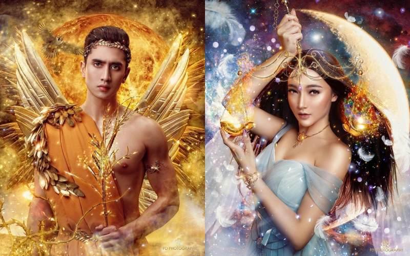 Pesona 12 Artis Muda Di Pemotretan Bertema Zodiak Mirip Dewa Dewi Yunani