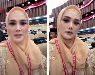 Pakai Baju Bodo, Intip Penampilan Mulan Jameela di Pelantikan Anggota DPR RI