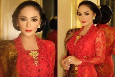 Cantik dan Elegan, Intip Pesona Krisdayanti Dengan Kebaya Merah di Pelantikan DPR RI
