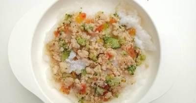 Bubur Saring Ikan Dori Brokoli Wortel