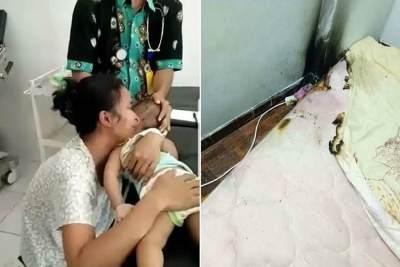 Miris, Seorang Ibu Menangis Bayinya Meninggal Tersetrum Charger HP