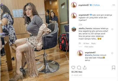 Tips 'Nyeleneh' Angela Lee Memperbesar Payudara, Bagaimana Sih Caranya yang Benar?