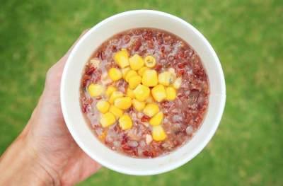 Nasi Tim Beras Merah dan Daging
