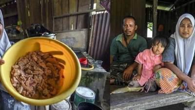 Memungut Makanan Sisa Dari Tempat Sampah