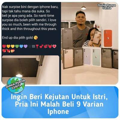 Viral Kisah Suami Idaman, Pria Ini Borong iPhone 11 Pro Demi Beri Kejutan Sang Istri