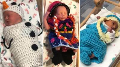Gemas! Rumah Sakit Ini Dandani Bayi Baru Lahir Jadi Elsa, Anna dan Olaf 'Frozen 2'