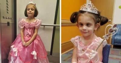 Berjuang Lawan Tumor Otak, Gadis 5 Tahun Ini Jalani Kemoterapi dengan Gaun Princess