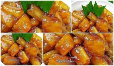 Resep Singkong Saus Karamel Gula Merah