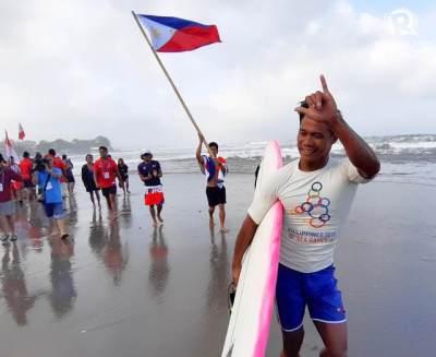Aksi Heroiknya Selamatkan Peselancar Indonesia Viral, Atlet Filipina Ini Raih Medali Emas SEA Games 2019