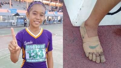Buat Sepatu Lari 'Nike' dari Perban, Anak Perempuan Ini Berhasil Dapatkan 3 Medali