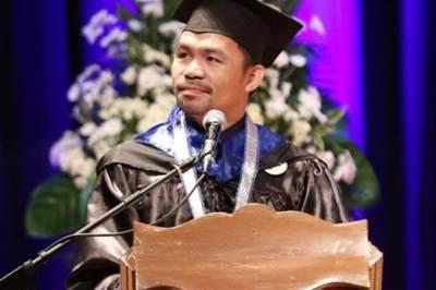 Tak Ada Kata Terlambat, Manny Pacquiao Raih Gelar Sarjana di Usia 40 Tahun