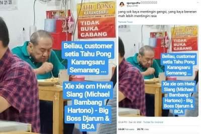 Gak Malu Makan di Warung, Orang Terkaya di Indonesia Ini Hobi Kuliner 'Ndeso'