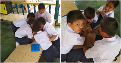 Bukti Masakan Ibu yang Terbaik, Anak Ini Berbagi Bekal Nasi Goreng dengan Teman Sekolahnya