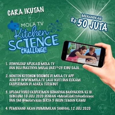 Ikutan Yuk Moms! Mola Kids Kitchen Science, Family Challenge Berhadiah Rp50 Juta