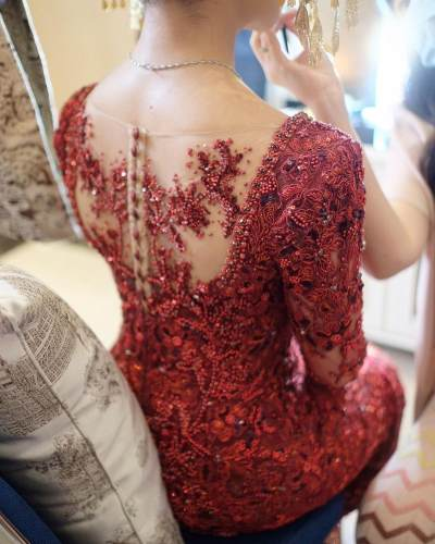 Mengintip Detail Kebaya Pengantin Nikita Willy di Hari Pernikahan