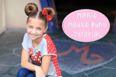 4. Minnie Mouse Buns